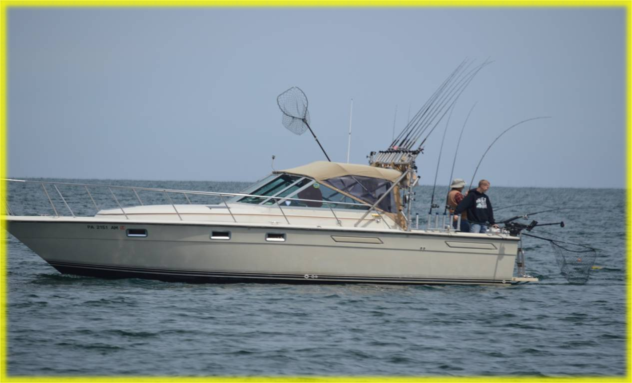 Lake erie pa walleye fishing charters erie pa for Lake fishing boats
